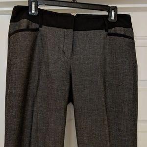 Express black trim grey pants. 10R. 33 inch inseam